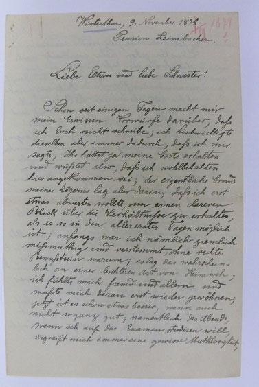 Bild 6: Schriftprobe Rudolf Diesel im Alter von 21  1/2 Jahren