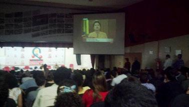 TV-transmission af Dilma Rousseff's tale til demon- stranterne d. 21. juni 2013