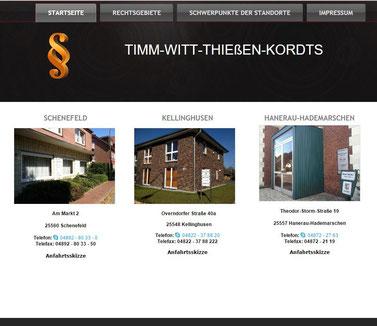 Timm - Witt - Thießen - & Korts