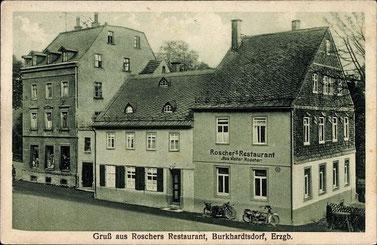 Ansichtskarte von 1936, Walter Roscher war der Wirt