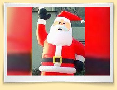 Aufblasbarer Weihnachtsmann günstig mieten in Bonn/Köln/Bornheim