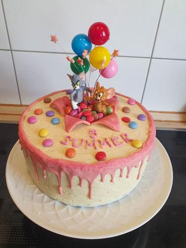 Tom und Jerry Modellierschokolade Torte