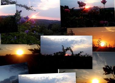 """""""Sonnenuntergang am See"""" = Titelfoto des Buches II(2012)"""