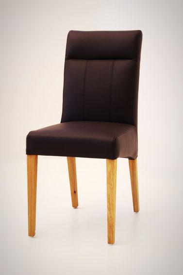 moderner Esszimmerstuhl aus bestem Kunstleder schwarz