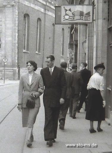 Agnes und Heinz Becker in der Salzstraße
