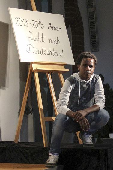 Zwei Jahre dauerte die Flucht des Jungen Aman von Eritrea nach Deutschland.