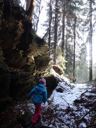 Am Hiftenberger Wetzsteinbruch bei Siegmundsburg