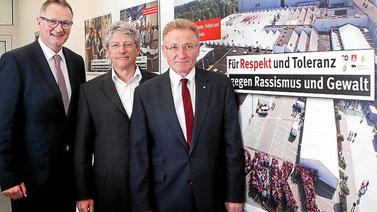 Das BR Führungsteam v. l. n. r. Mathias Möreke, Heinrich Betz, Uwe Fritsch / Foto: Thomas Ammerpohl