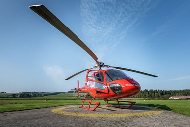 Elite Flights, AS 350 B2 Ecureuil, HB-ZPF, Tarmac Luzern-Beromünster, Helikopter-Flotte