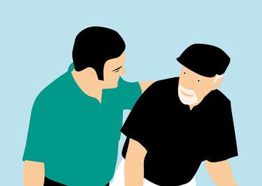 Services à domicile, soins ou simple compagnie, l'humain est au centre de ce noyau dur qui lutte contre l'isolement de personnes en position de vulnérabilité. Crédit photo : Pixabay©mohamed_hassan