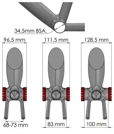 La scatola BSA misura solo il telaio.