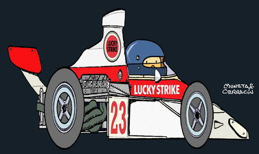 Dave Charlton by Muneta & Cerracín -  Scribante Lucky Strike Racing McLaren M23 - Ford Cosworth V8