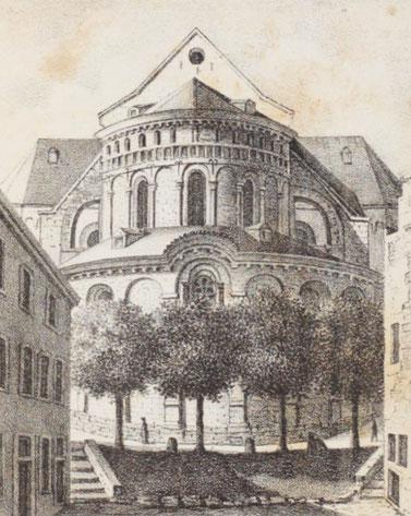 Lithographie von Anton Wünsch nach einer Zeichnung von Johann Peter Weyer, Foto Teaser (c) Heinz Winterscheid CC BY-SA 4.0
