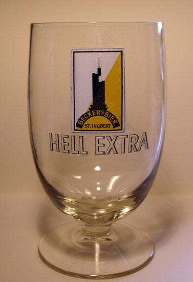Vorkriegs Bierglas Becker Brauerei St.Ingebrt