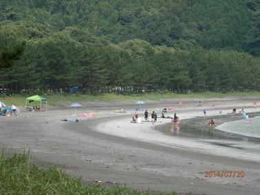 蒲江波当津海水浴場。