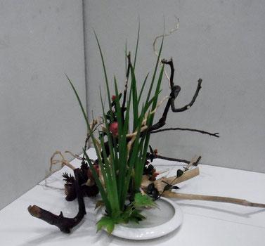 2014 暖秋そのうつろい オクロレウカの盛花