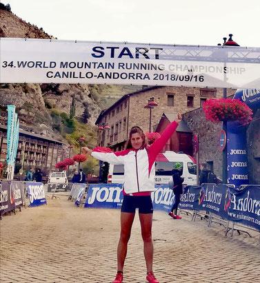Karin Freitag vor dem Rennen in Andorra (Foto: zVg)