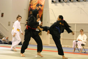 Tanding, one of today's most popular Pencak Silat practices.