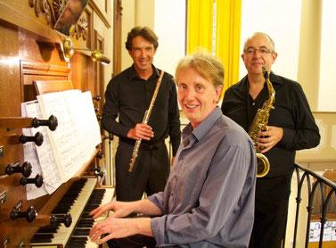 Bruno Marq (flûte), Christophe Piédoux (orgue), Philippe Lacrouzade (saxophone)