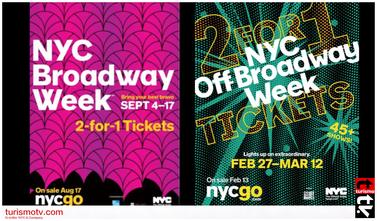 Espectáculos 2 x1 en Nueva York