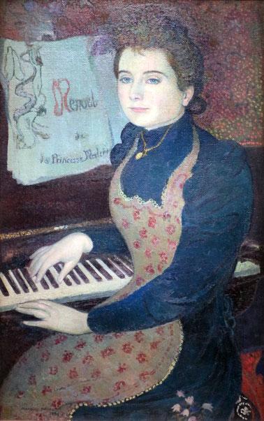 《ピアノとマルタ》1891年