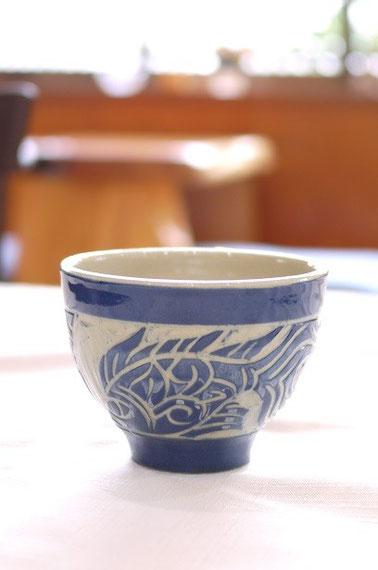 器と珈琲 Lien りあん のギャラリー: 沖縄陶器 人間国宝の金城一郎氏一門の金城秀義氏の作品