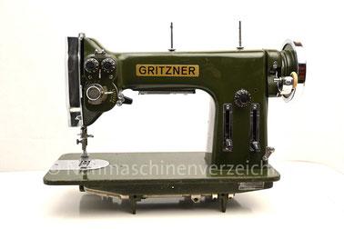 Gritzner HZB, Flachbett mit Fußantrieb, Anbaumotor möglich, Hersteller: Gritzner-Kayser AG Nähmaschinen - Mopeds - Fahrräder Karlsruhe-Durlach (Bilder: Nähmaschinenverzeichnis)