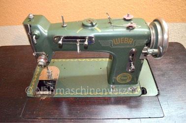 WEBA 520, Flachbett-Zickzack-Haushaltsnähmaschine, Fußantrieb, Motornachrüstung mögl.,  1953, WEBA-Werke KG, Ober-Ramstadt (Bilder: Jonas)
