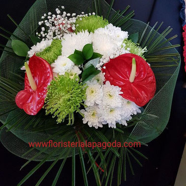 Ramo blanco rojo y verde grande ref rbrv300517    PVP  45 €