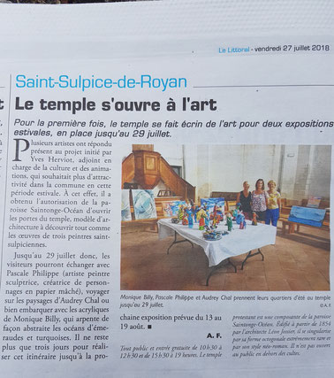 article-presse-audrey-chal-artiste-peintre-royan-tableau-contemporain