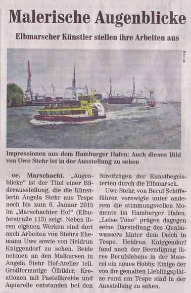 Kreiszeitung Wochenblatt Elbe-Geest vom 12. November 2014