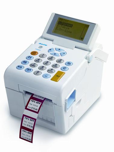 SATO-Thermodrucker mit Reduzierungsetiketten