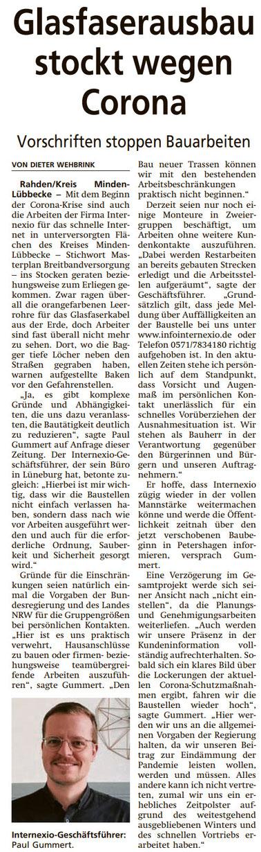 Diepholzer Kreisblatt vom 07.04.2020