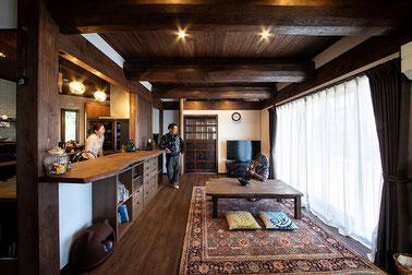 アジアンな古民家風の家。