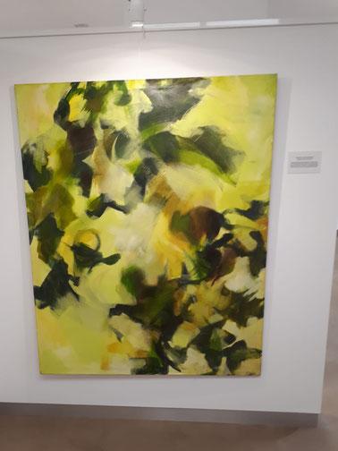 """Verónica von Degenfeld.DESPIERTA VIENTO DEL SUR. 150x120cm.Óleo sobre lienzo.El título lo elegí por el Cantar de los Cantares""""Despierta vino del Sur,sopla en mi jardín, llena el aire de especias y fragancia"""""""