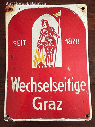 Enamel signboard GRAWE