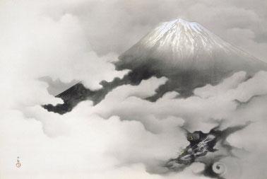 横山大観 「龍躍る」 (1940)