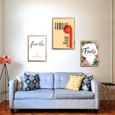 4onepictures - poster - wohnzimmer - poster set - typographie - typografie - bilder mit spruch - quotes - pic - schwarz weiß - skandi design