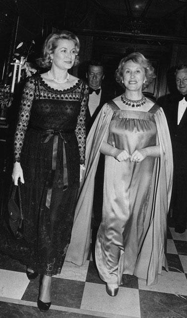 Les amies; son altesse la Princesse Grace de Monaco et Madame Estée Lauder