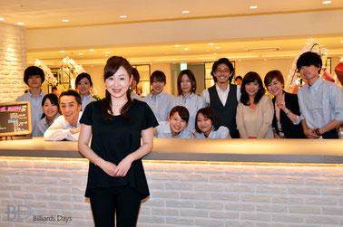曽根恭子(JPBA)とスタッフの皆さん