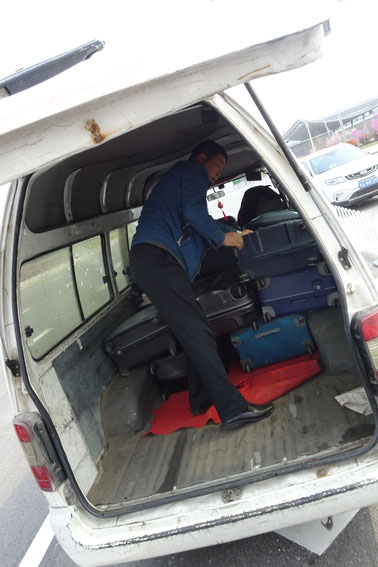 Additional van for our luggage