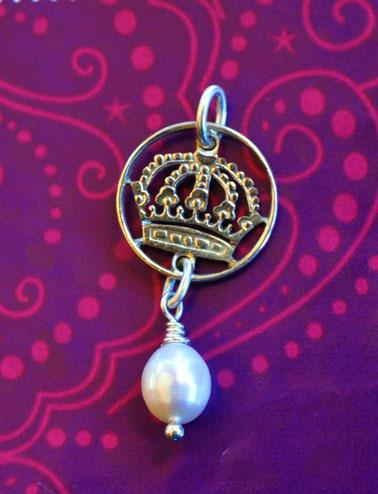 Münzsägewerk Katrin Thull | Schweden - Krone mit Perle