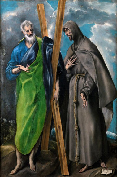 Самые известные картины Эль Греко - Святые Андрей и Франциск