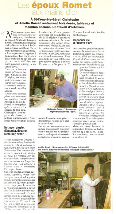 Article de L'Orne Magazine