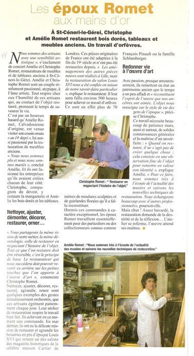 Article de L'Orne Magazine