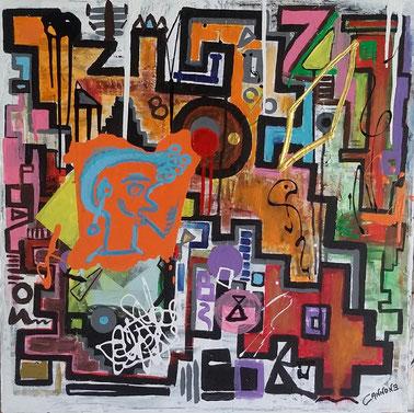 Istinto adolescenziale - Inequivobabilmente libero e sognatore, nelle forme e nei colori... come un ragazzino :-)  Le energie di questo quadro sono strabilianti e magnetizzanti.