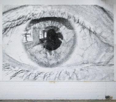 Studie zu OH! 2008 Acryl auf Papier 315 x 490 cm