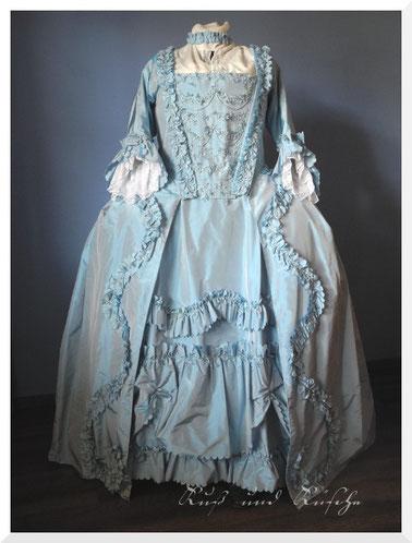 18. Jahrhundert Robe à la Française Seidentaft