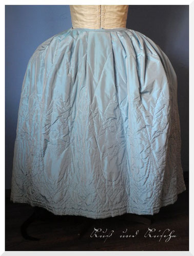 18th century hand quilted petticoat, made from Silk