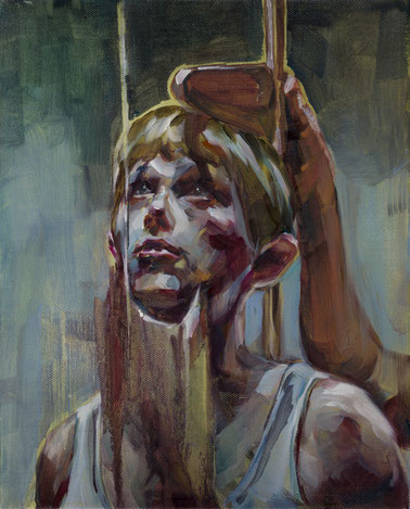 messung, 30 x 20 cm, oil on linen, 2015
